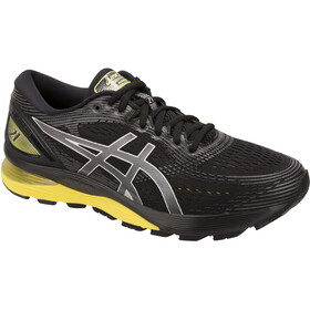 asics Gel-Nimbus 21 Shoes Men, black/lemon spark